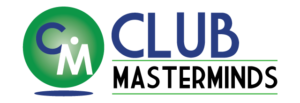 Club Masterminds blue and green logo to help country club, private club, golf clubs to be more successful